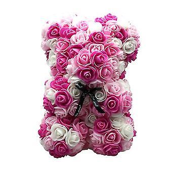 Valentinstag Geschenk 25 cm Rose Bär Geburtstagsgeschenk£¬ Memory Day Geschenk Teddybär(Pink 1#)