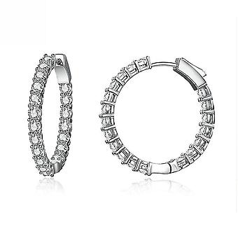 Earrings Bright Time Platinum Plated Ear Studs For Birthday Gift