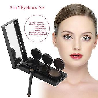 Music Flower Brand Makeup Eyeliner Gel & Eyebrow Powder Palette Waterproof