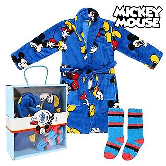 Children's Dressing Gown and Socks Mickey Mouse Blue