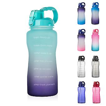 Lohill 2000ml Motivational Outdoor Water Bottle With Time Marker And Straw, Leakproof Tritan Bpa,sports Bottle