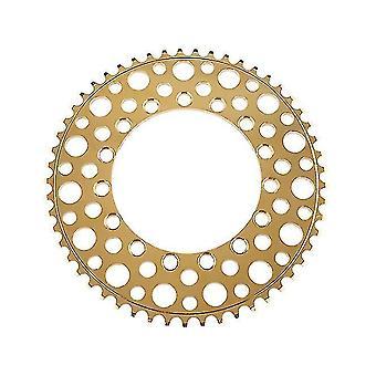 Folding Bike 56T Chainring Road Bike Negative Teeth Single Chainring,gold(Gold)