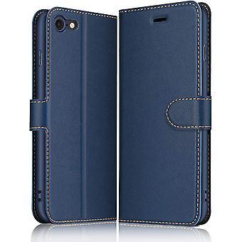 Hülle für iPhone SE 2020 / iPhone 7 / iPhone 8, Premium Leder Flip Wallet Schutzhülle Tasche