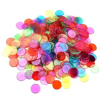 100pieces Counters Counting Bingo Chips Plastic Markers For Math Or Games (multicolored)
