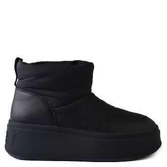 Ash MAXI Boots All Black Nylon And Leather