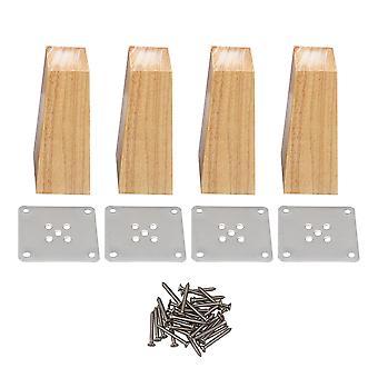 Pöydän jalat 4kpl oikeakulmainen trapetsoidi huonekalukaapit jalat korvaaminen 15cm