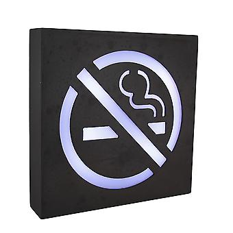 Rustic Brown Lighted Wooden No Smoking Symbol Wall Sign