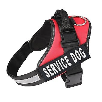 Pet Adjustable Dog Vest D-Ring Harness Reflective Safety Bands Removable Patches