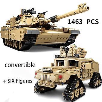 כלי רכב צבאיים SWAT צוות טכני טנק מודל אבני בניין 1463PCS צעצועי לבנים עשה זאת בעצמך