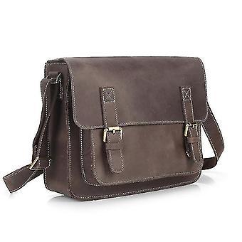 Maletines maletín de cuero de alta calidad marrón oscuro