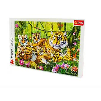 Jigsaw puzzles 500 piece family of tigers jigsaw puzzle premium quality sealed