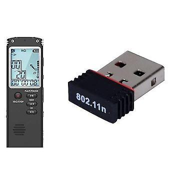 Hot usb wireless 802.11b / g / n karta sieciowa wifi karta sieciowa rtl8188 & 32gb USB dictaphone cyfrowy