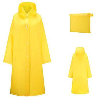 Mimigo Transparent Candy Raincoat Portable Eva Raincoats For Adults, Reusable Rain Ponchos With Hoods And Sleeves Lightweight Raincoats