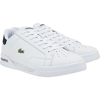 Lacoste Twin Serve 0121 1 SMA Leather Trainers White 43
