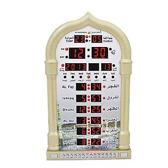 Horloge murale islamique Azan Réveil Calendrier Prière musulmane Ramadan Cadeau Décoration intérieure