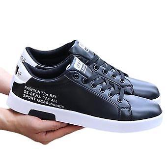 Mannen platte schoenen ademende casual sport witte schoenen