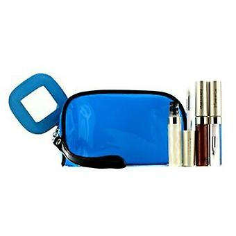 Kanebo Lip Gloss Set With Blue Cosmetic Bag (3xmode Gloss 1xcosmetic Bag) - 3pcs+1bag