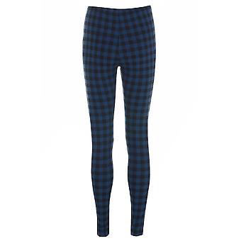 Topshop Blue Check Leggings TRS221-8