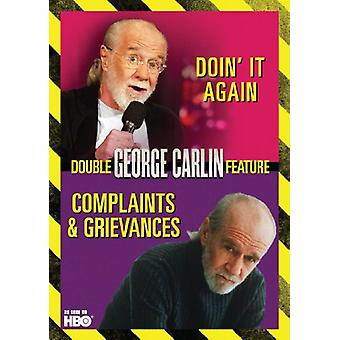 George Carlin - klagomål & klagomål/Doin It Again [DVD] USA import