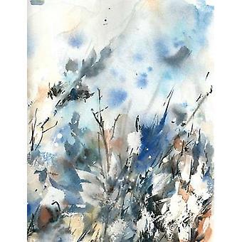 Bleu Hoo Poster Print par Sophia Rodionov
