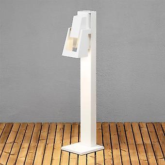 Konstsmide Potenza Modern Japanese Bollard Post Light, White