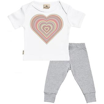 Spoilt Rotten Warm Heart Baby T-Shirt & Baby Jersey Trousers Outfit Set