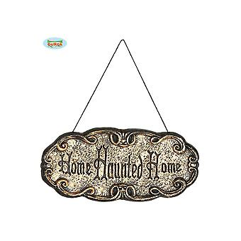 Halloween et horreur Signe de porte d'Halloween Haunted maison 45x20cm