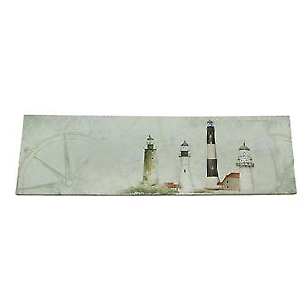 Coastal Lights Mantel Sized Lighthouse LED Canvas Print