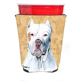 Carolines Treasures  SC9130RSC Pit Bull Red Solo Cup Beverage Insulator Hugger