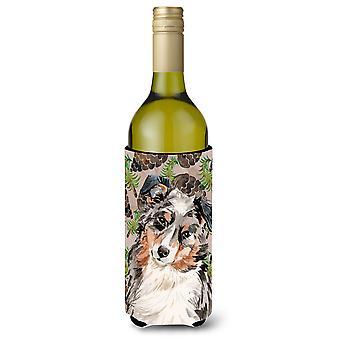 Pastor australiano pinho Cones garrafa de vinho Beverge isolador Hugger