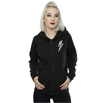 AC/DC femminile piccolo Lightning Bolt con Zip Hoodie