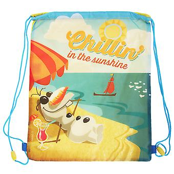 Disney Frozen Childrens Kids Olaf Drawstring Bag