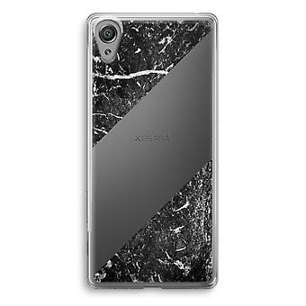 Sony Xperia XA1 przezroczyste etui (Soft) - czarny marmur