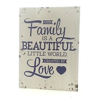 """Houten tekstbord """"Family"""""""
