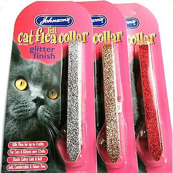 Johnsons Felt Cat Collar Glitter