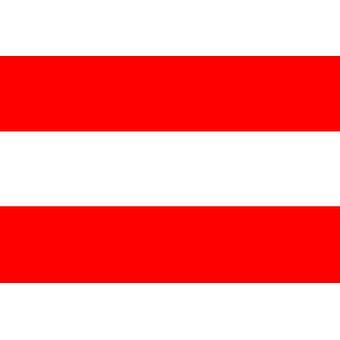 Oostenrijkse vlag 5 ft x 3 ft met oogjes voor verkeerd-om