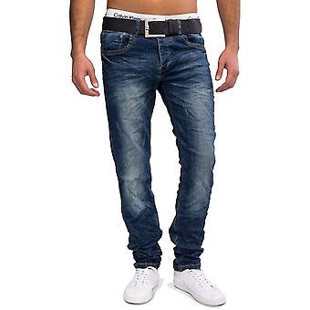 Men Jeansnet Regular Jeans Publio Denim Stone Washed Jeans trousers