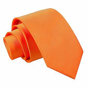 Burnt Orange Plain Satin regelmäßige Krawatte für jungen