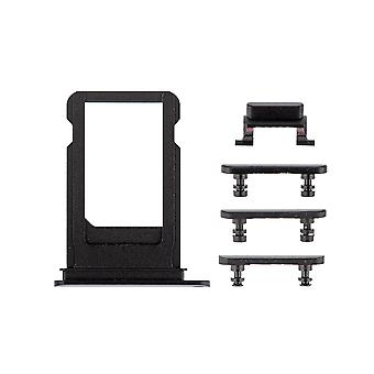 Black kant knoppen Set met SIM-lade voor iPhone 7 Plus