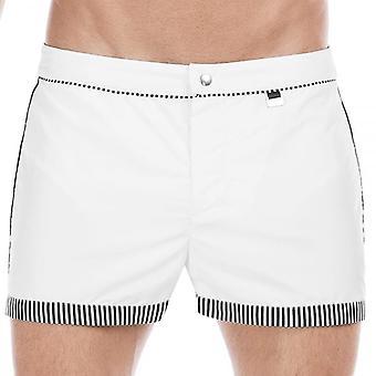 HOM Santa Cruz Bond Swim Shorts, White, Large