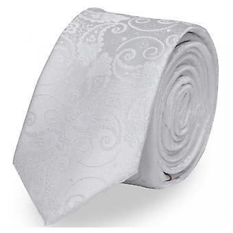 Tie tie tie tie 6cm white uni Paisley pattern Fabio Farini