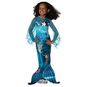 青魔法の人魚人魚姫の衣装はドレス子供用ブルー