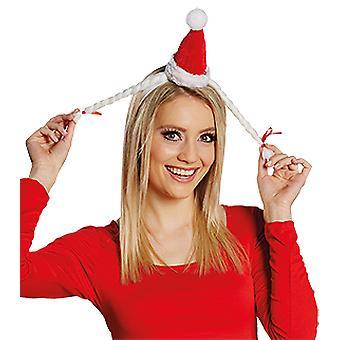 Örgülü Mini Noel şapkası