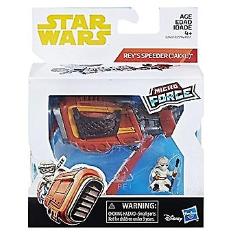 Star Wars Mikro Kraft Rey mit Speeder Bike-Action-Figur