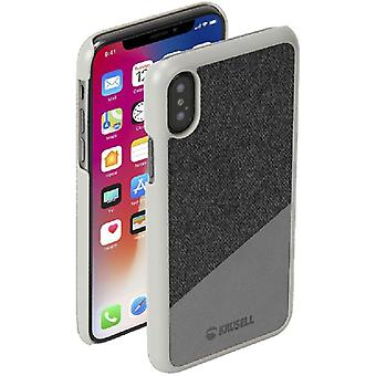 Krusell Sunne leather cover cover for Apple iPhone X / XS 5.8 leather protective case cover Tanum gray