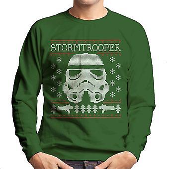 Original Stormtrooper Helmet Christmas Knit Pattern Men's Sweatshirt