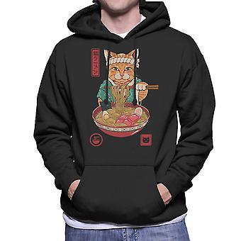 Japanese Maneki Neko Lucky Charm Ramen Cat Ramen Men's Hooded Sweatshirt