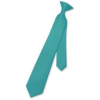 Vesuvio Napoli Boy CLIP-ON Krawatte solide Jugend Hals binden
