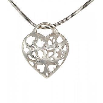 Cavendish Français Sterling Silver Filigree coeurs dans un pendentif coeur sans chaîne