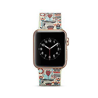 Siliconen horlogebandje voor Apple Watch 4 40mm, 3/2/1 38mm-kleurrijk ontwerp